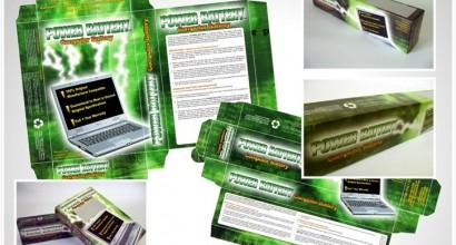 Embalagem Caixas Power Battery