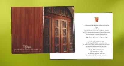 Convite e Postal Jubileu Mosteiro de São Bento