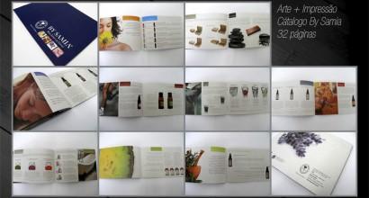 arte final + impressão Catalogo 32 paginas - By Samia