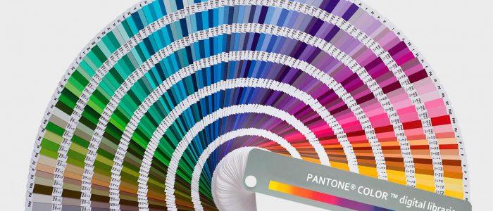 Especificação de cores especiais Pantone