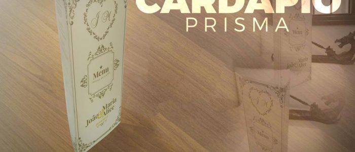 Cardápio para casamento Prisma
