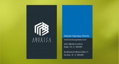Cartão de visita America Engenharia