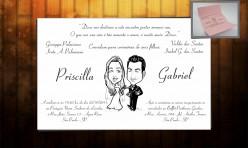 Convite de casamento Priscila e Gabriel