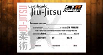 Diploma Certificado de Faixa Jiu-Jitsu