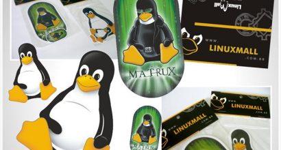 Embalagem Solapa Tux LinuxMall