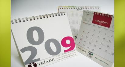 Calendário de Mesa - Brinde para fim de ano