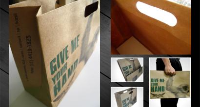 Embalagem sacola de papel ecologico