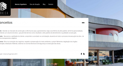 Website Wordpress America Engenharia