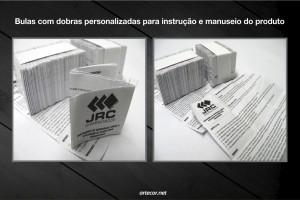 Bula JRC para instrução e manuseio do produto