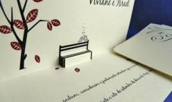 Convite de Casamento Banco c/ Passarinho
