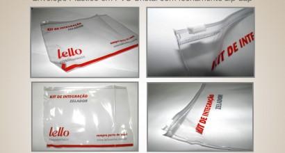 envelope plastico em PVC cristal com fechamento zip-zap
