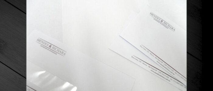 Papel Carta + Envelope com Visor