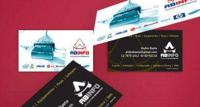 Cartão de Visita para Soluções em Tecnologia