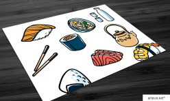 Jogo Americano para Restaurante Japonês