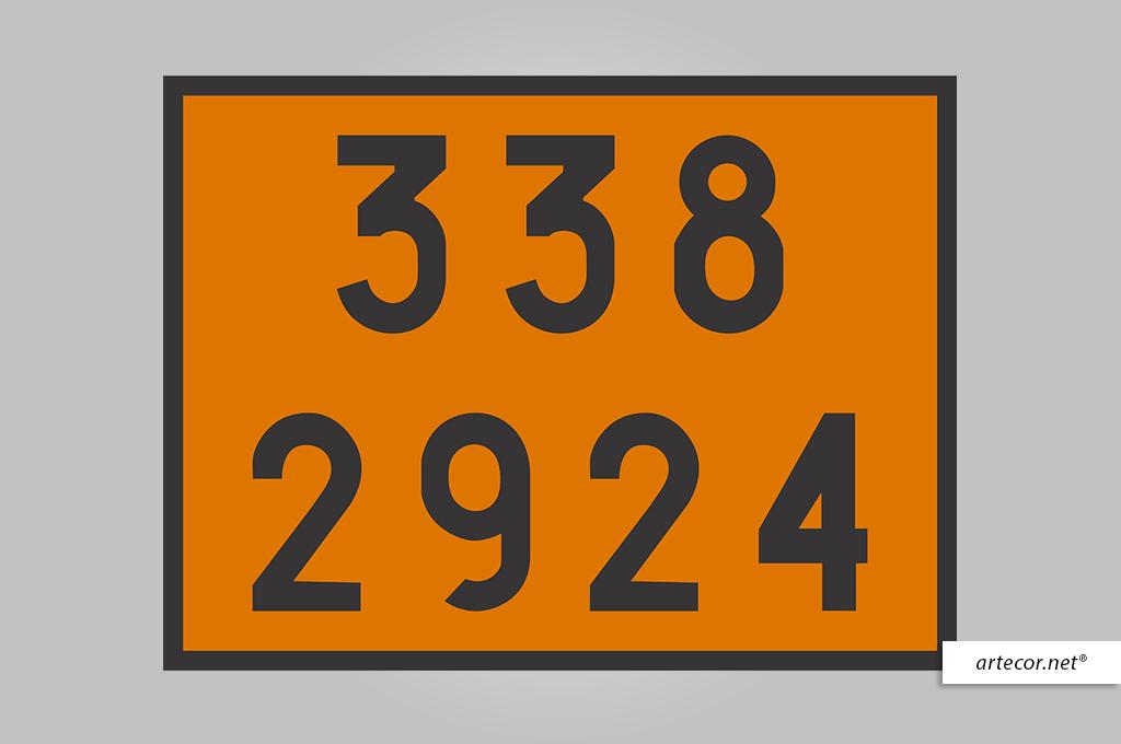 Placa de Simbologia de Risco - 338-2924