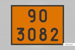 Placa de Simbologia de Risco - 90-3082