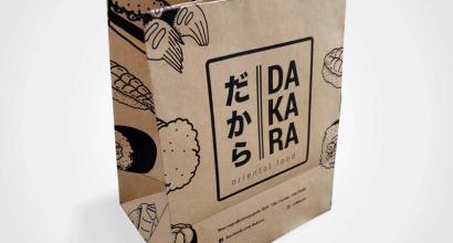 Sacola de papel para fast food