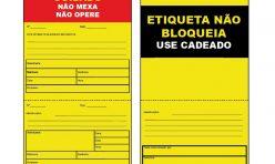 Etiqueta de Bloqueio Elétrico