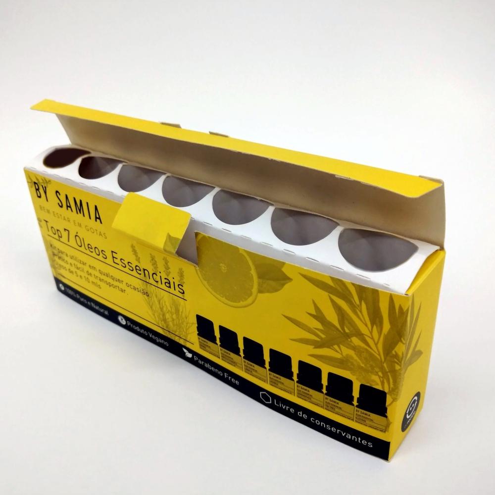 caixa frascos