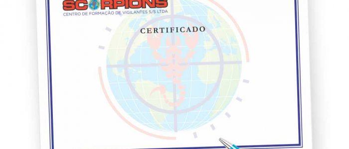 Certificado para Curso de formação de Vigilante