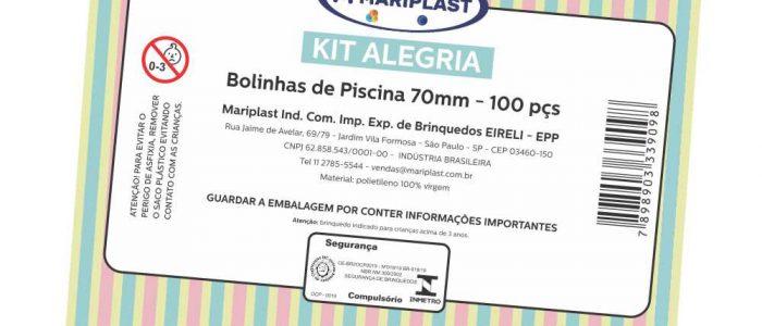 Encarte em papel rígido para embalagens em polietileno